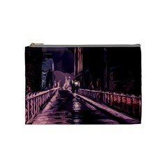 Texture Abstract Background City Cosmetic Bag (medium)