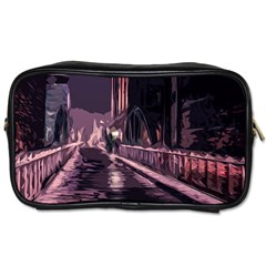 Texture Abstract Background City Toiletries Bags