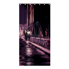 Texture Abstract Background City Shower Curtain 36  X 72  (stall)