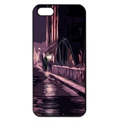 Texture Abstract Background City Apple Iphone 5 Seamless Case (black)