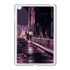 Texture Abstract Background City Apple Ipad Mini Case (white)