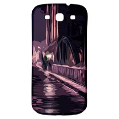 Texture Abstract Background City Samsung Galaxy S3 S Iii Classic Hardshell Back Case