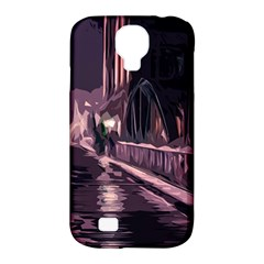 Texture Abstract Background City Samsung Galaxy S4 Classic Hardshell Case (pc+silicone)