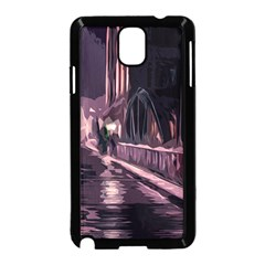 Texture Abstract Background City Samsung Galaxy Note 3 Neo Hardshell Case (black)