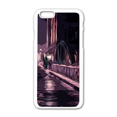 Texture Abstract Background City Apple Iphone 6/6s White Enamel Case