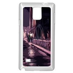 Texture Abstract Background City Samsung Galaxy Note 4 Case (white)