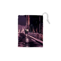 Texture Abstract Background City Drawstring Pouches (xs)  by Nexatart