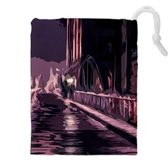 Texture Abstract Background City Drawstring Pouches (xxl) by Nexatart