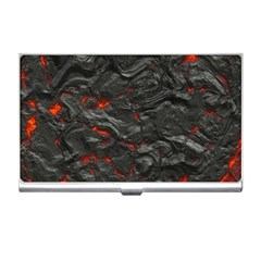 Rock Volcanic Hot Lava Burn Boil Business Card Holders