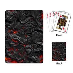 Rock Volcanic Hot Lava Burn Boil Playing Card