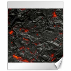 Rock Volcanic Hot Lava Burn Boil Canvas 11  X 14