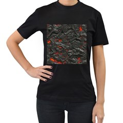 Rock Volcanic Hot Lava Burn Boil Women s T Shirt (black)