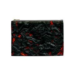 Rock Volcanic Hot Lava Burn Boil Cosmetic Bag (medium)