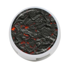 Rock Volcanic Hot Lava Burn Boil 4 Port Usb Hub (one Side)