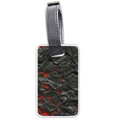Rock Volcanic Hot Lava Burn Boil Luggage Tags (two Sides)