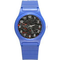 Rock Volcanic Hot Lava Burn Boil Round Plastic Sport Watch (s) by Nexatart