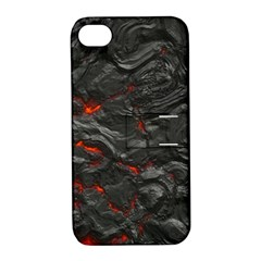 Rock Volcanic Hot Lava Burn Boil Apple Iphone 4/4s Hardshell Case With Stand by Nexatart