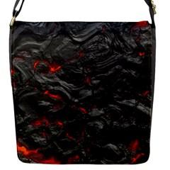 Rock Volcanic Hot Lava Burn Boil Flap Messenger Bag (s)