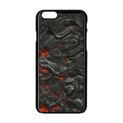 Rock Volcanic Hot Lava Burn Boil Apple Iphone 6/6s Black Enamel Case by Nexatart