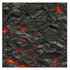 Rock Volcanic Hot Lava Burn Boil Large Satin Scarf (square)