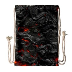 Rock Volcanic Hot Lava Burn Boil Drawstring Bag (large) by Nexatart