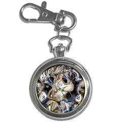 Time Abstract Dali Symbol Warp Key Chain Watches
