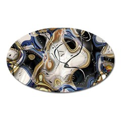 Time Abstract Dali Symbol Warp Oval Magnet