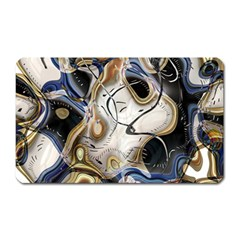 Time Abstract Dali Symbol Warp Magnet (rectangular)