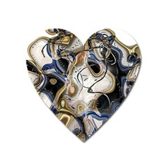 Time Abstract Dali Symbol Warp Heart Magnet
