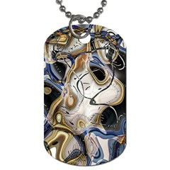 Time Abstract Dali Symbol Warp Dog Tag (one Side)