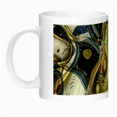 Time Abstract Dali Symbol Warp Night Luminous Mugs