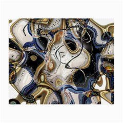 Time Abstract Dali Symbol Warp Small Glasses Cloth (2 Side)