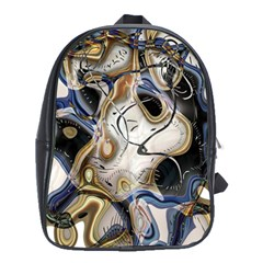 Time Abstract Dali Symbol Warp School Bag (large)