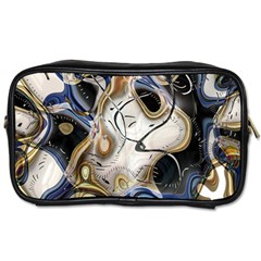 Time Abstract Dali Symbol Warp Toiletries Bags