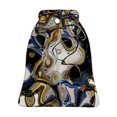 Time Abstract Dali Symbol Warp Bell Ornament (two Sides)