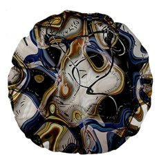 Time Abstract Dali Symbol Warp Large 18  Premium Round Cushions by Nexatart