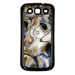 Time Abstract Dali Symbol Warp Samsung Galaxy S3 Back Case (black)