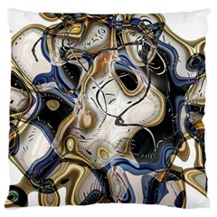 Time Abstract Dali Symbol Warp Standard Flano Cushion Case (one Side)