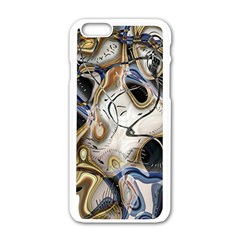 Time Abstract Dali Symbol Warp Apple Iphone 6/6s White Enamel Case