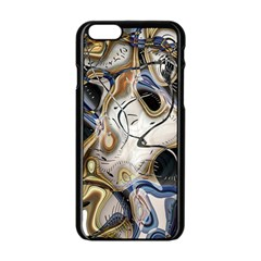 Time Abstract Dali Symbol Warp Apple Iphone 6/6s Black Enamel Case