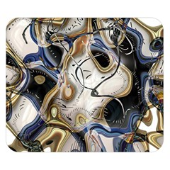 Time Abstract Dali Symbol Warp Double Sided Flano Blanket (small)