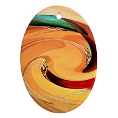 Spiral Abstract Colorful Edited Ornament (oval)