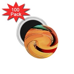 Spiral Abstract Colorful Edited 1 75  Magnets (100 Pack)