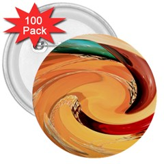 Spiral Abstract Colorful Edited 3  Buttons (100 Pack)