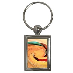 Spiral Abstract Colorful Edited Key Chains (rectangle)