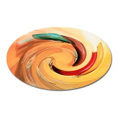Spiral Abstract Colorful Edited Oval Magnet