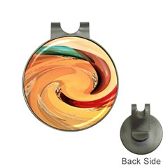 Spiral Abstract Colorful Edited Hat Clips With Golf Markers