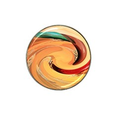 Spiral Abstract Colorful Edited Hat Clip Ball Marker (4 Pack)