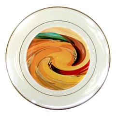 Spiral Abstract Colorful Edited Porcelain Plates