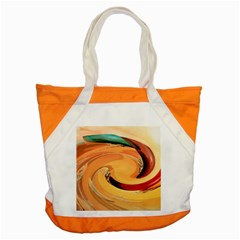Spiral Abstract Colorful Edited Accent Tote Bag